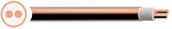 Plain Copper Sheath Mineral Insulated MI Cable Temperature Rating -10°C To 250°C