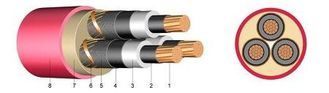 China N2XSEY Three Core High Voltage Power Cables Hv Wire Fire Retardant 6 KV / 10 KV factory