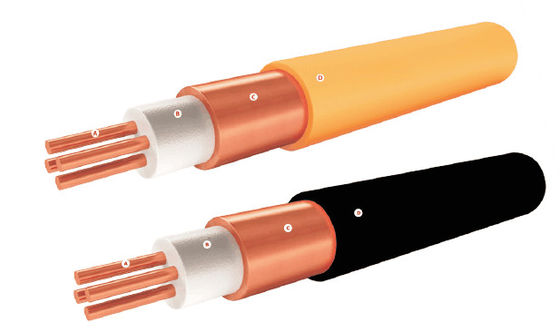 Three Wire Mineral Insulated Cable Copper Conductor For Fire Survival System